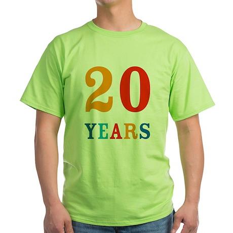 20 Years! Green T-Shirt