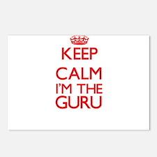 Keep calm I'm the Guru Postcards (Package of 8)