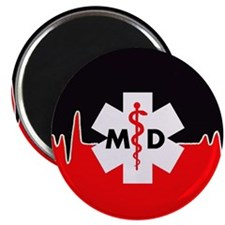 MD Red Heartbeat Magnets
