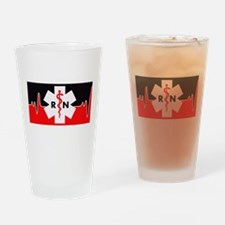 RN Red Heartbeat Drinking Glass