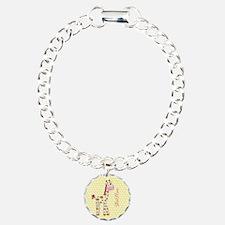 Girly Polka Dots Giraffe Bracelet