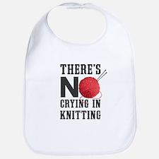 No Crying In Knitting Bib