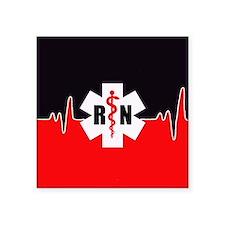RN Red Heartbeat Sticker