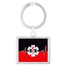 RN Red Heartbeat Keychains