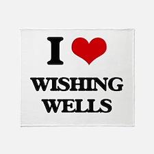 wishing wells Throw Blanket