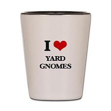 yard gnomes Shot Glass