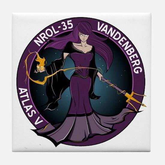 NROL 35 Program Tile Coaster