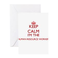 Keep calm I'm the Human Resource Wo Greeting Cards