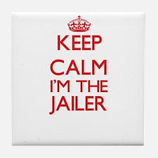 Keep calm I'm the Jailer Tile Coaster