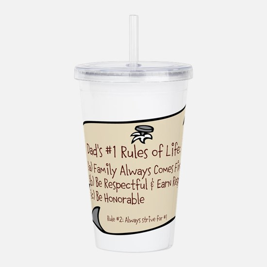 Dads #1 Rules Acrylic Double-wall Tumbler