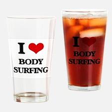 body surfing Drinking Glass