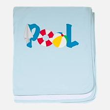 Pool Stuff baby blanket