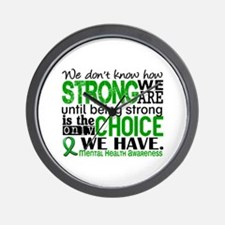Mental Health HowStrongWeAre Wall Clock