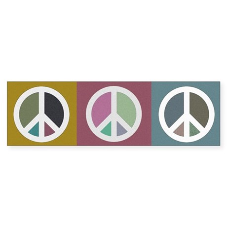 PEACE SIGNS Bumper Sticker