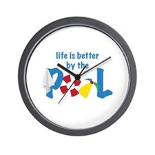 Pool Life Wall Clock