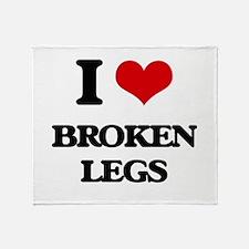 broken legs Throw Blanket