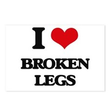 broken legs Postcards (Package of 8)