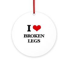 broken legs Ornament (Round)