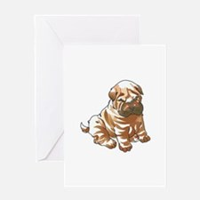 SHAR PEI PUPPY Greeting Cards