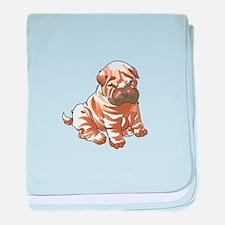 SHAR PEI PUPPY baby blanket