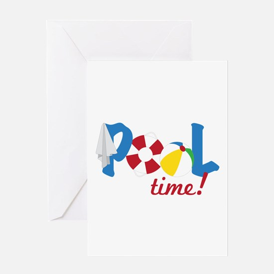 Pool Time Greeting Cards
