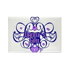 Daddy's Girl Blue/Lavender Rectangle Magnet