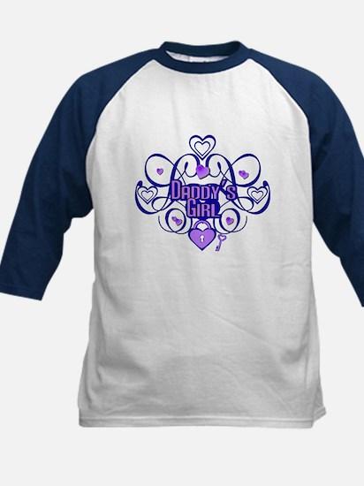 Daddy's Girl Blue/Lavender Kids Baseball Jersey