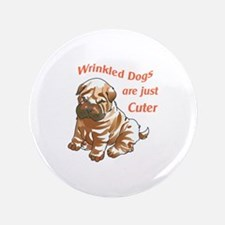 "WRINKLED DOGS 3.5"" Button"