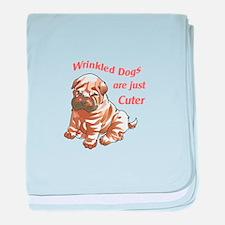 WRINKLED DOGS baby blanket