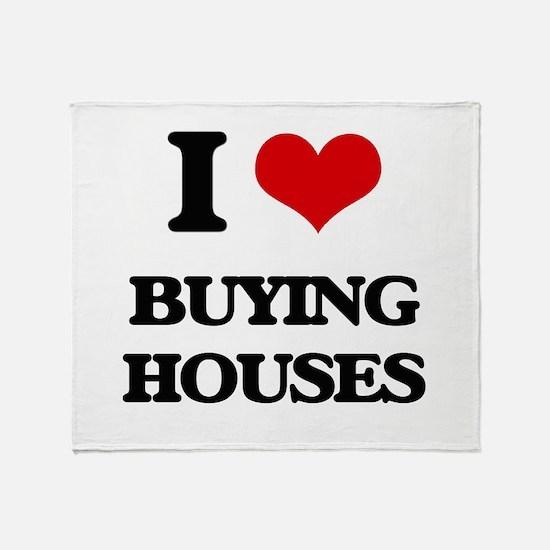 buying houses Throw Blanket