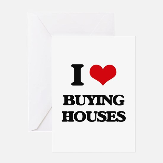 buying houses Greeting Cards