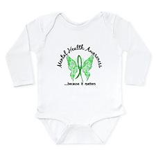 Mental Health Butterfl Long Sleeve Infant Bodysuit