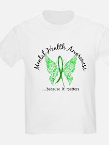 Mental Health Butterfly 6.1 T-Shirt