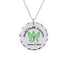 Mental Health Butterfly 6.1 Necklace