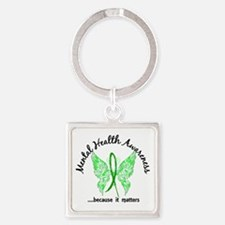 Mental Health Butterfly 6.1 Square Keychain