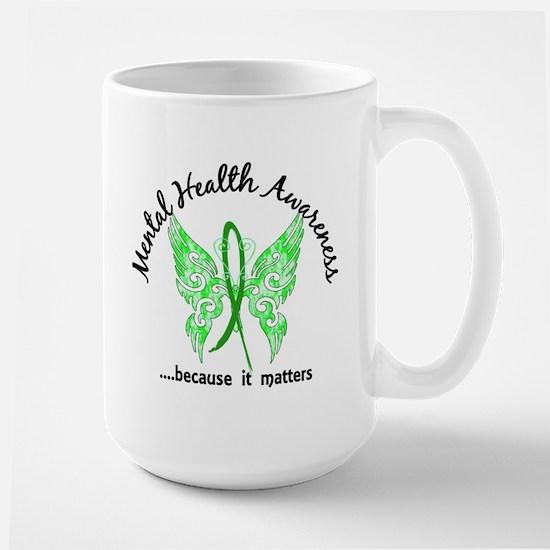 Mental Health Butterfly 6.1 Large Mug