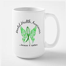 Mental Health Butterfly 6.1 Mug