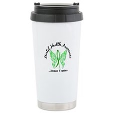 Mental Health Butterfly Travel Mug