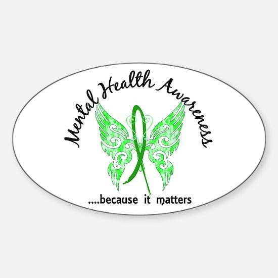 Mental Health Butterfly 6.1 Sticker (Oval)