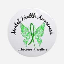 Mental Health Butterfly 6.1 Ornament (Round)