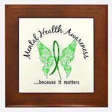 Mental Health Butterfly 6.1 Framed Tile