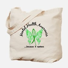 Mental Health Butterfly 6.1 Tote Bag