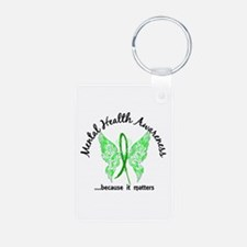 Mental Health Butterfly 6. Aluminum Photo Keychain