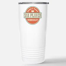 Saxophone Player Music Travel Mug
