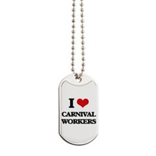 carnival workers Dog Tags
