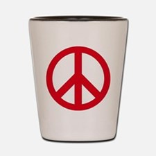 Cute Peace symbol Shot Glass