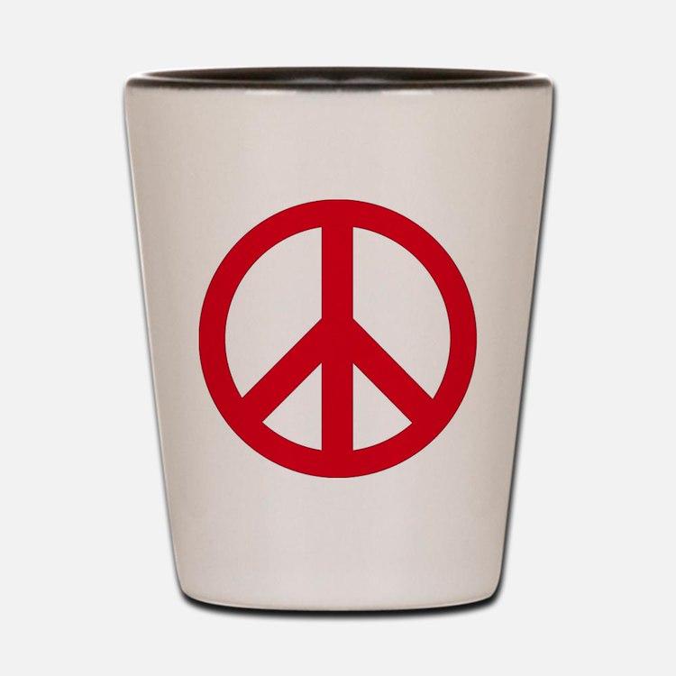 Cute Peace symbol Shot Glass