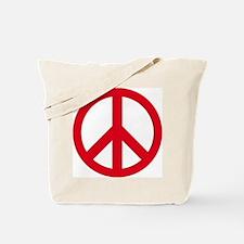 Funny Peace symbol Tote Bag