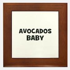 avocados baby Framed Tile