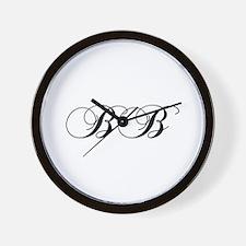 BB-cho black Wall Clock